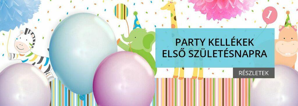 születésnapi buli kellékek Party Home webáruház születésnapi buli kellékek