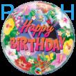 22 inch-es Tropical Birthday Party Szülinapi Bubble Lufi