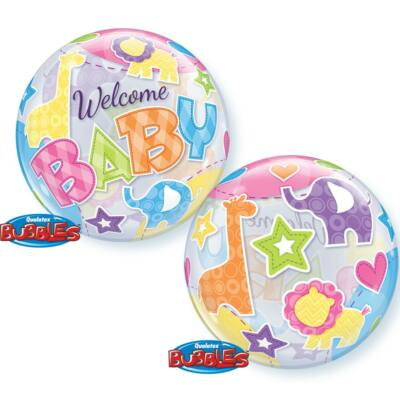 Welcome Baby Animals Patterns Bubbles Lufi