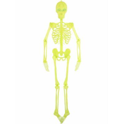 Csontváz Dekoráció Világító Szemekkel
