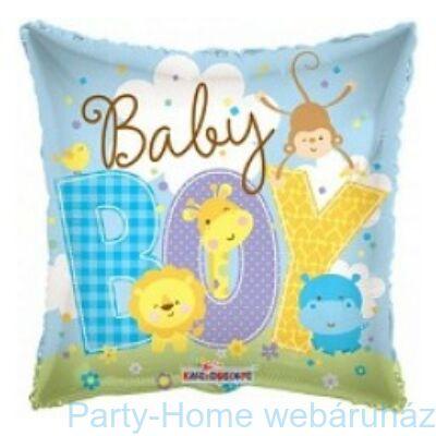 Baby Boy világoskék fólia lufi