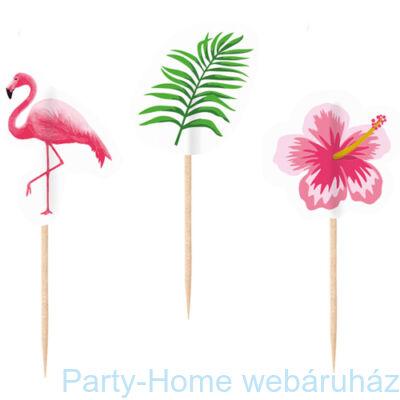 Flamingó Falatka Pálcika - 7,5 cm, 24 db-os