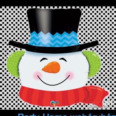 36 inch-es Mosolygós Hóember - Smilin Snowman Karácsonyi Fólia Lufi