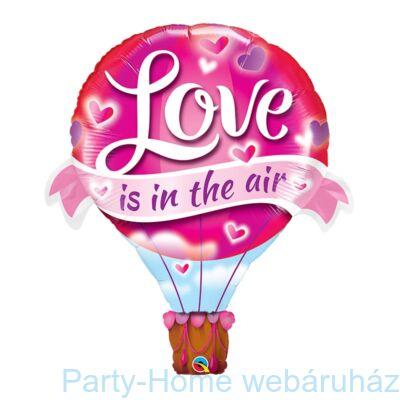 42 inch-es Love Is In the Air Balloon - Léghajó Fólia Lufi Valentin-napra