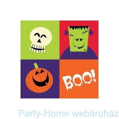 Happy Halloween Boo Monster szalvéta - 25 x 25 cm, 18 db-os