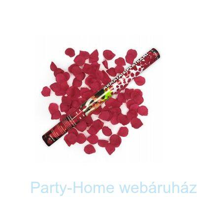60 cm-es, Piros Rózsaszirmokat Kilövő Parti Konfetti Ágyú