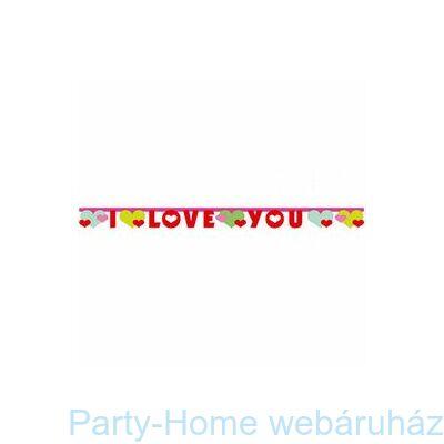I Love You Feliratú Füzér Valentin-napra
