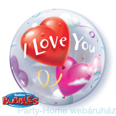 I Love You Heart Balloons Szerelmes Bubble Lufi