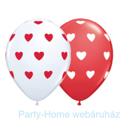 Big Hearts Red and White Szives Lufi