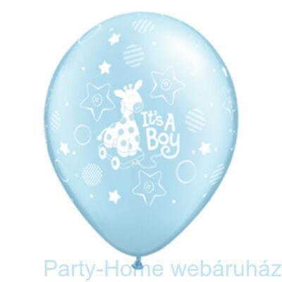 It is A Boy Soft Giraffe Pearl Light Blue Lufi