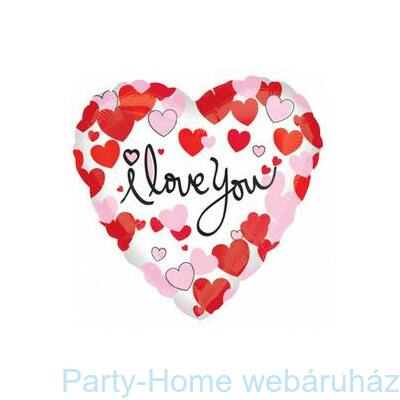 17 inch-es Hearts Equal Love Szerelmes Fólia Lufi