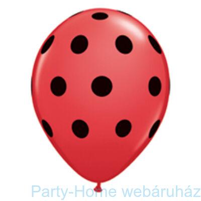 Big Polka Dots Red/Black Pöttyös Lufi