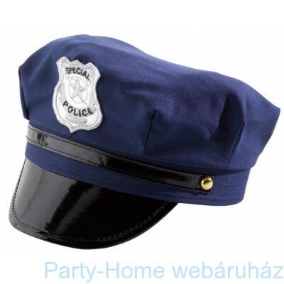Fekete Filc Rendőr Sapka Jelvény Mintával