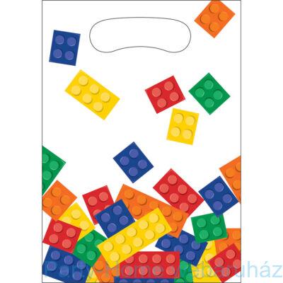 Lego Mintás Parti Ajándékzacskó - 8 db-os
