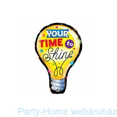 40 inch-es Your Time To Shine Ballagási Fólia Lufi