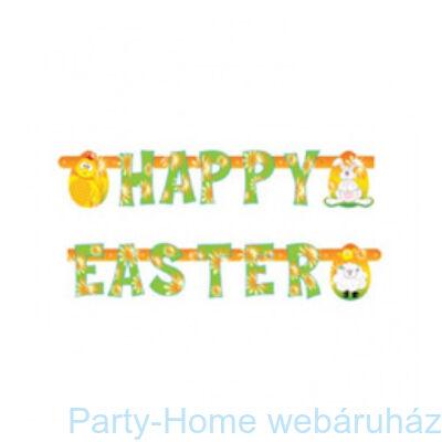 Vidám Színű Happy Easter Feliratú Húsvéti Parti Betűfüzér - 2 m