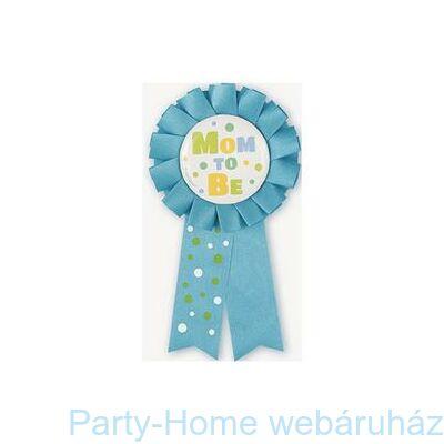 Kék Mom To Be - Kismama Parti Kitűző
