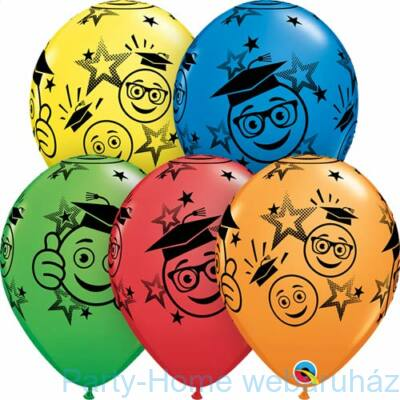 11 inch-es Graduation Smileys Special Assortment Ballagási Lufi