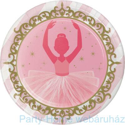 Elbűvölő ballerina tányér 23 cm 8db