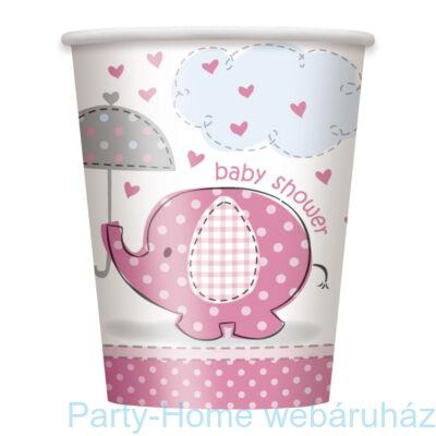 Pöttyös elefánt baby kislányos pohár 256 ml 8db