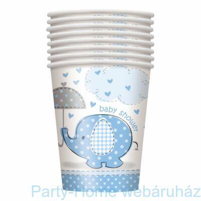 Pöttyös elefánt baby kisfiús pohár 256 ml 8db