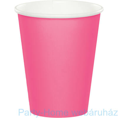 Pohár 256 ml candy pink 8db