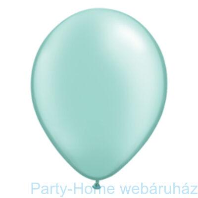 11 inch-es Pearl Mint Green Kerek Lufi