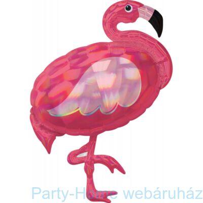 33 inch-es Flamingó Holografikus Super Shape Fólia Lufi