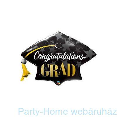 41 inch-es Congratulations Grad Stars Fólia Lufi Ballagásra