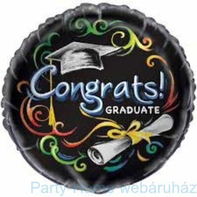 18 inch-es Chalkboard - Congrats Graduate - Ballagási Fólia Lufi