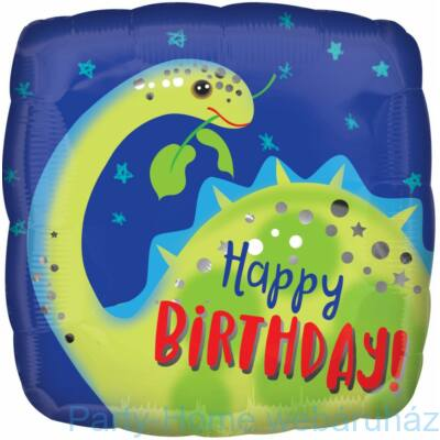 17 inch-es Brontosaurus Happy Birthday fólia lufi