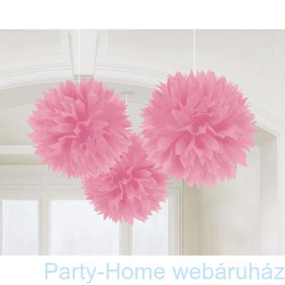 Light Pink Bolyhos Függő Dekoráció - 41 cm, 3 db-os