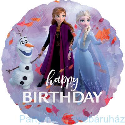17 inch-es Frozen 2 Happy Birthday Fólia Léggömb
