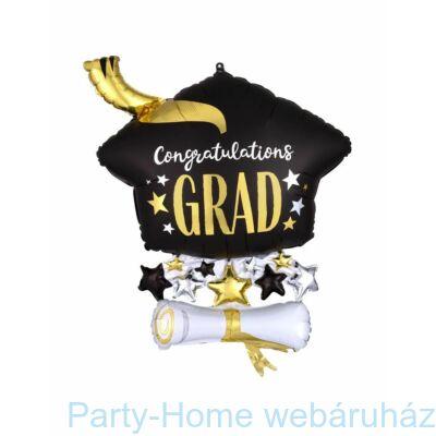 Arany Diploma - Congratulations Grad Super Shape Fólia Lufi Ballagásra