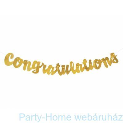 Congratulations Arany Betűfüzér - 106 cm-es