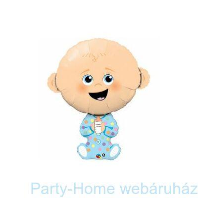 38 inch-es Baby Boy - Kisfiús Baba Fólia Lufi Babaszületésre
