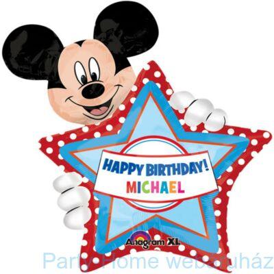 Mickey Mouse Feliratozható Super Shape Fólia Lufi