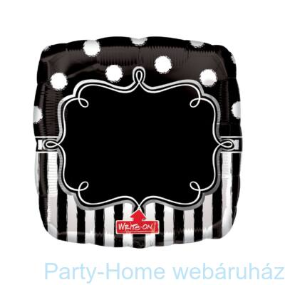 Chalkboard Birthday Party Super Shape Fólia Lufi