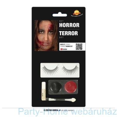 Horror Make-Up Szett Műszempillával