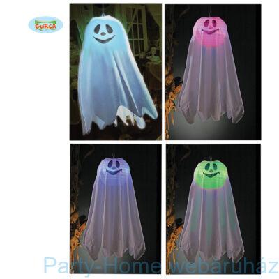 Világító Szellem függő dekoráció Halloweenre 60 cm-es