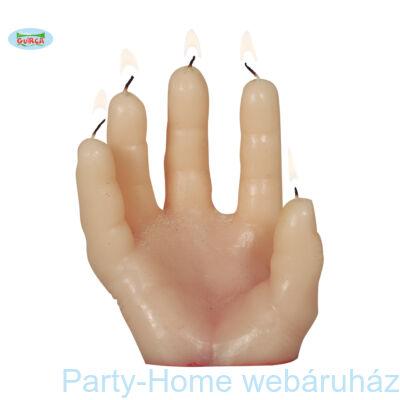 Kézfej Gyertya Halloweenre - 14 cm-es