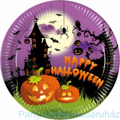 Happy Spooky Halloween Papír Tányér - 23 cm-es 8 db-os