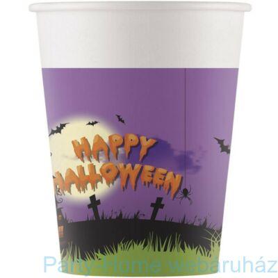 Happy Spooky Halloween Papír Pohár - 200 ml-es 8 db-os