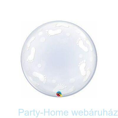 24 inch-es Baby Footprints Deco Bubble Lufi