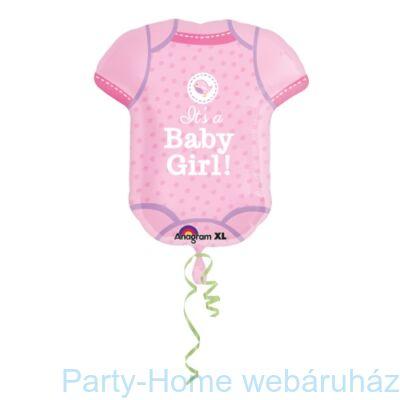It's a Baby Girl - Kislányos Body Super Shape Fólia Lufi Babaszületésre