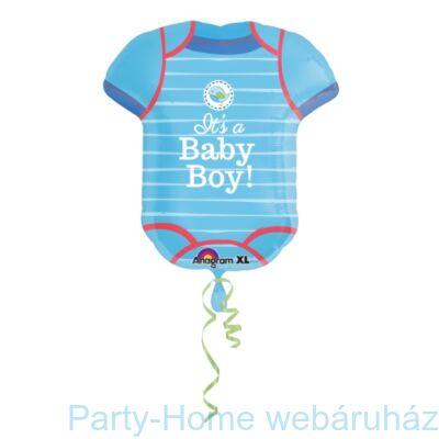 It's a Baby Boy - Kisfiús Body Super Shape Fólia Lufi Babaszületésre