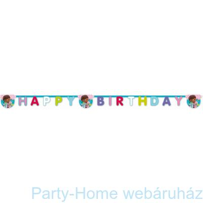 Doc McStuffins - Dr. Plüssi party Happy Birthday girland 2,3 m