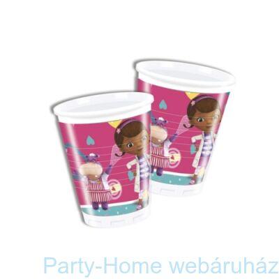 Doc McStuffins - Dr. Plüssi party pohár 200 ml 8 db-os