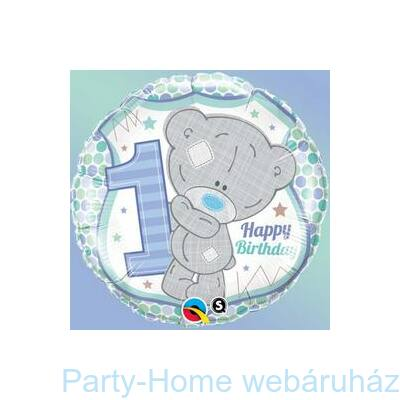 Macis Tatty Teddy Birthday 1st Csillagos Szülinapi Fólia Lufi