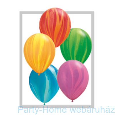Rainbow SuperAgate-assortment Kerek Latex Lufi